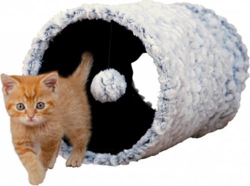 tunnel de jeu en peluche douce blanc et noir jouet pour chat. Black Bedroom Furniture Sets. Home Design Ideas