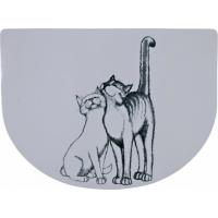 Set de tablet Pussy Cat demi-rond
