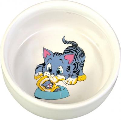 Ecuelle céramique avec dessin chat
