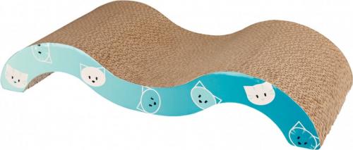 Griffoir vague Mimi turquoise en carton ondulé