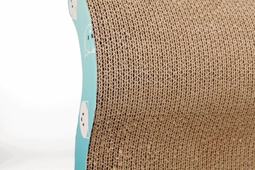 Griffoir vague Mimi turquoise en carton ondulé_1