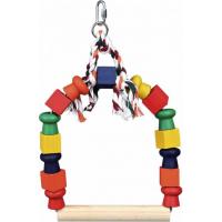 Arceau balançoire avec blocs bois multicolores