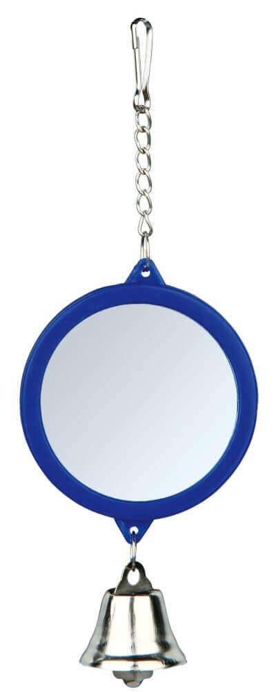 runder spiegel mit glocken vogelzubeh r. Black Bedroom Furniture Sets. Home Design Ideas
