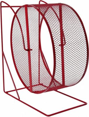 Hamsterrad aus Metall mit feinem Gitter