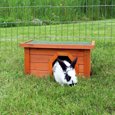 Außenhäuschen Natura aus natürlichem Holz für Kleintiere