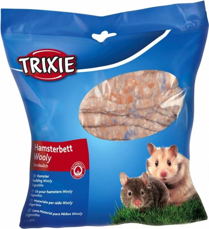 Lit hamster Wooly brun