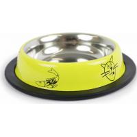 Gamelle jaune anti-dérapante ZOLIA PERLY pour chat