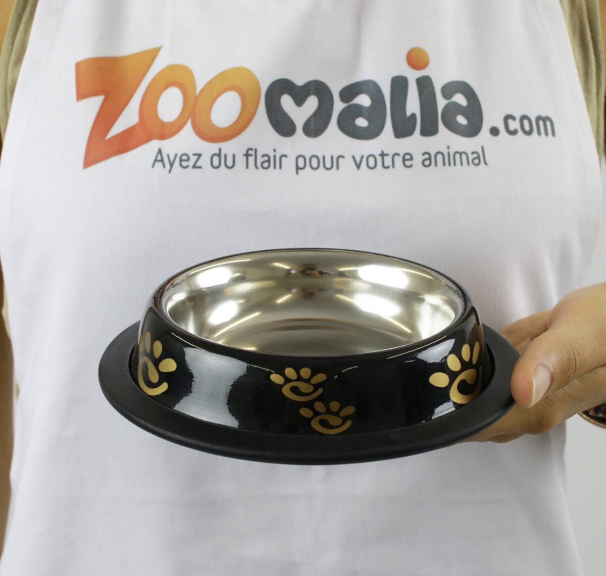 Gamelle noire anti-dérapante ZOLIA PERLY pour chien_4