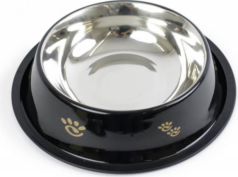 Gamelle noire anti-dérapante ZOLIA PERLY pour chien