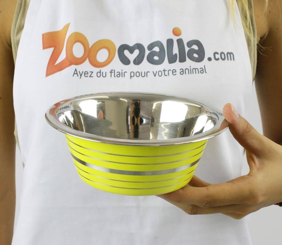Gamelle inox jaune ZOLIA PIWI_4