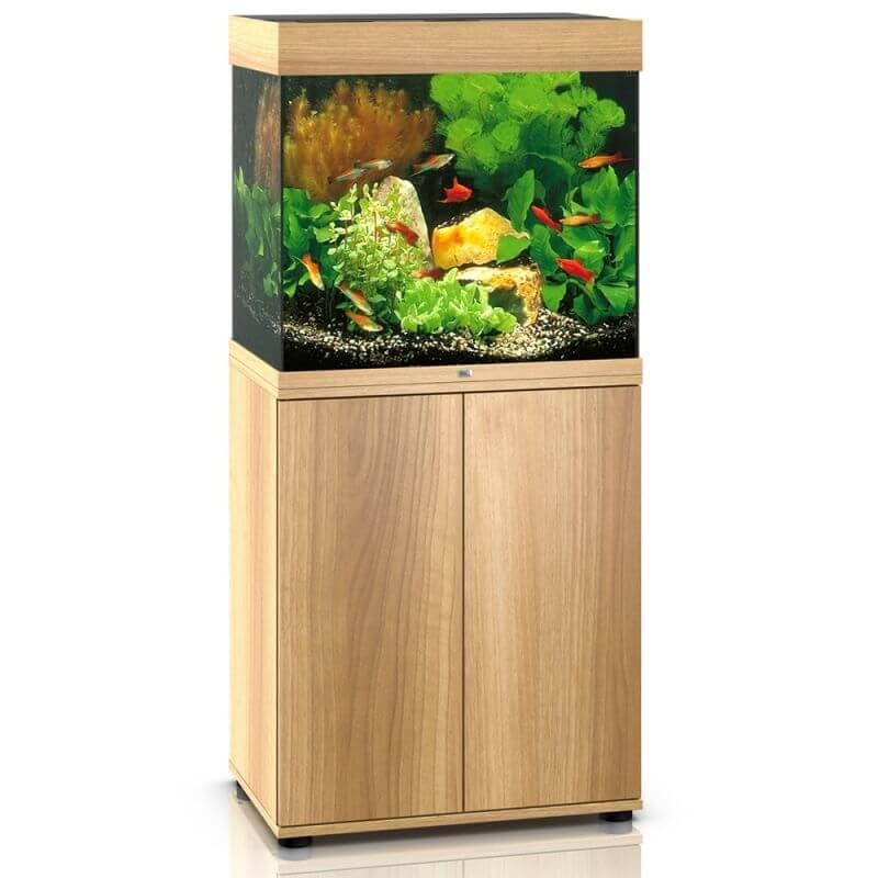 Juwel meuble sbx pour aquarium lido 120 bois clair - Meuble pour aquarium 120 litres ...