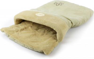Coussin chat chaussette ZOLIA SOCKY beige
