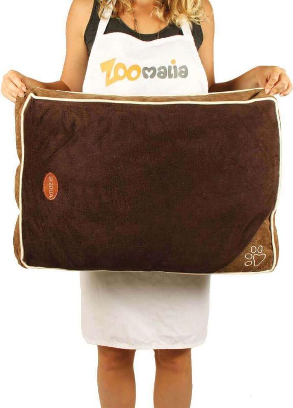 Matelas ZOLIA EZIO bicolore chocolat liseré crème de 60 à 110cm