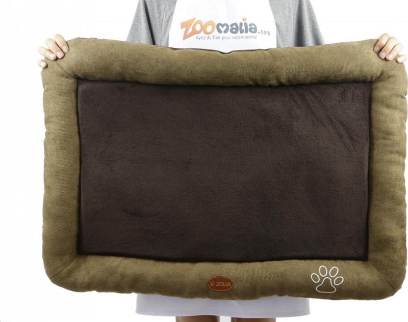 Coussin chocolat/café ZOLIA DINO pour chien - 70 et 85cm