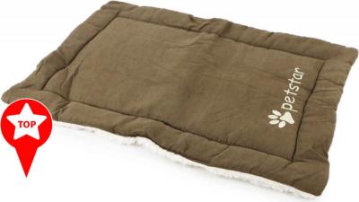 Alfombra acolchada ZOLIA reversible marrón y beige KIWI