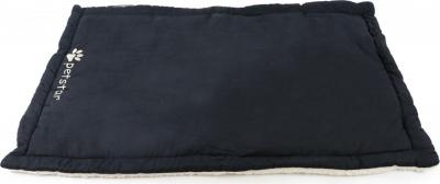 Tapis molletonné ZOLIA réversible noir et beige KIWI