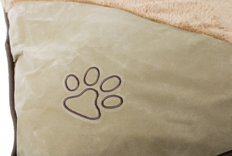 Coussin bruissant ZOLIA CAYENNE marron clair petit chien - 60cm