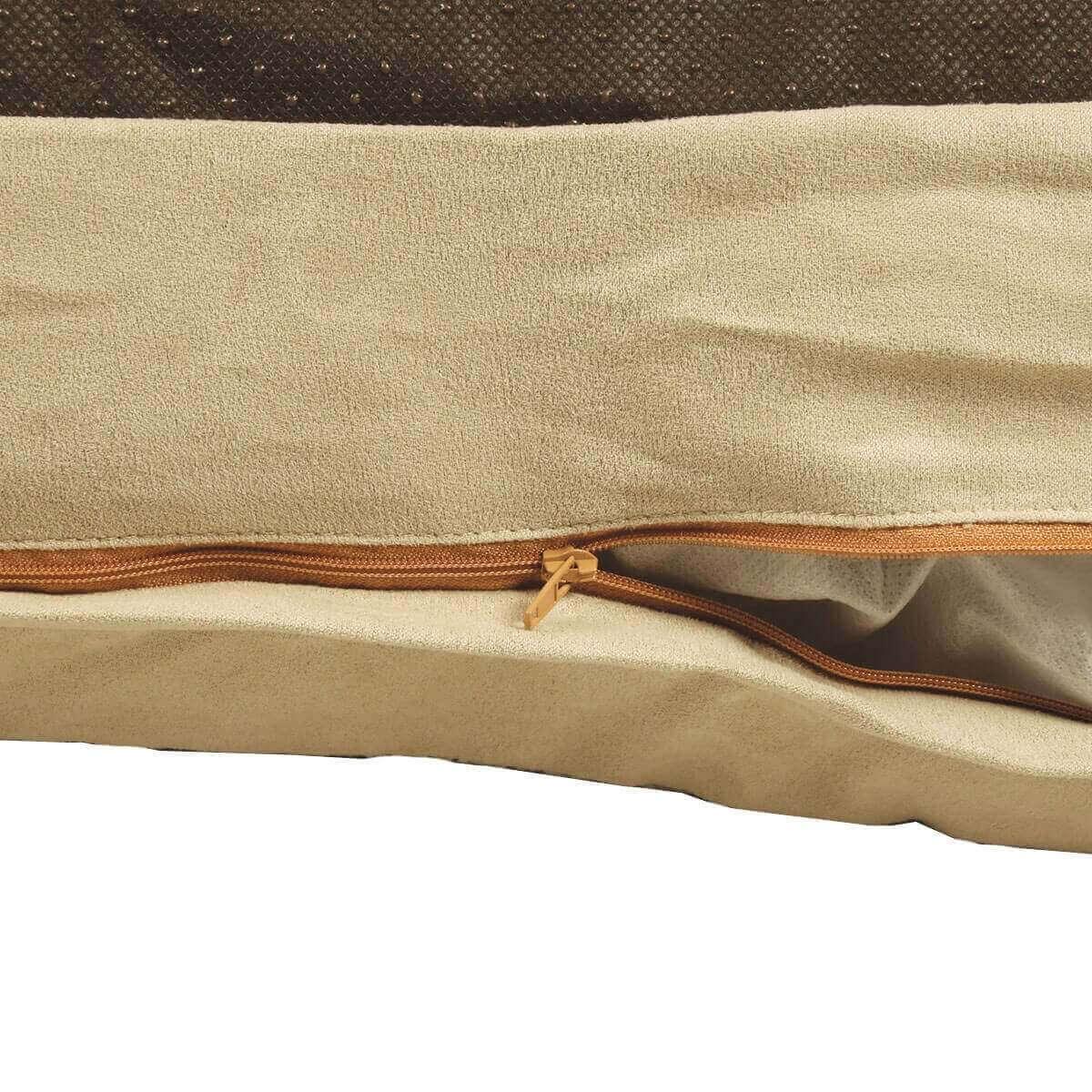 Cojín ZOLIA desenfundable MACAO color gris y beige_2