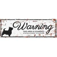 Panneau rectangulaire métal WARNING Terrier