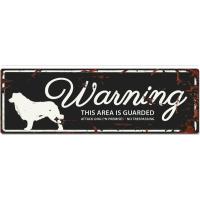 Panneau rectangulaire métal WARNING Berger australien