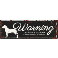 Panneau rectangulaire métal WARNING Staffordshire Terrier
