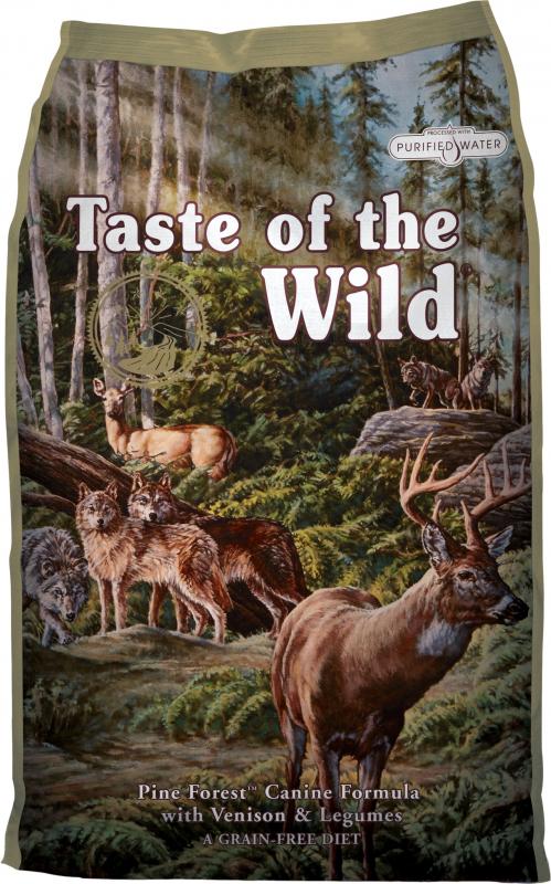 TASTE OF THE WILD Pine Forest Sans Céréales au Cerf pour chien