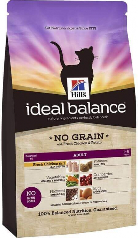 HILL'S Ideal Balance Sans Céréales Poulet & Pommes de terre pour Chat adulte