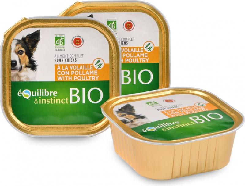 Equilibre & Instinct Pâtée BIO pour chien adulte volaille et légumes