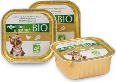 Pâtée BIO - Equilibre & Instinct  chien - Volaille et légumes