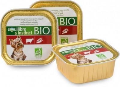 Pâtée BIO - Equilibre & Instinct pour chien adulte - Boeuf