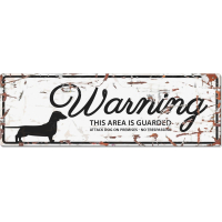 Panneau rectangulaire métal WARNING Teckel