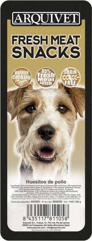 Friandises pour chien Sans Céréales au poulet Fresh Meat ARQUIVET