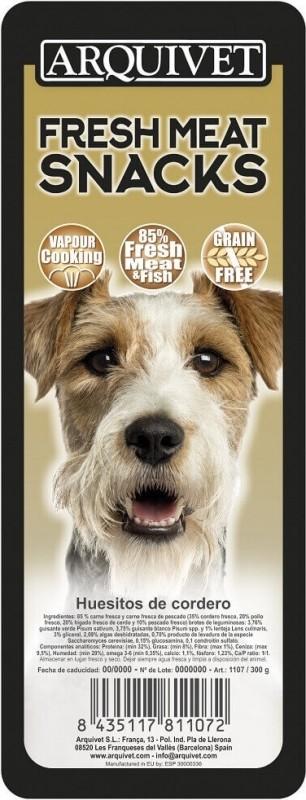 Friandises pour chien Sans Céréales à l'agneau Fresh Meat ARQUIVET