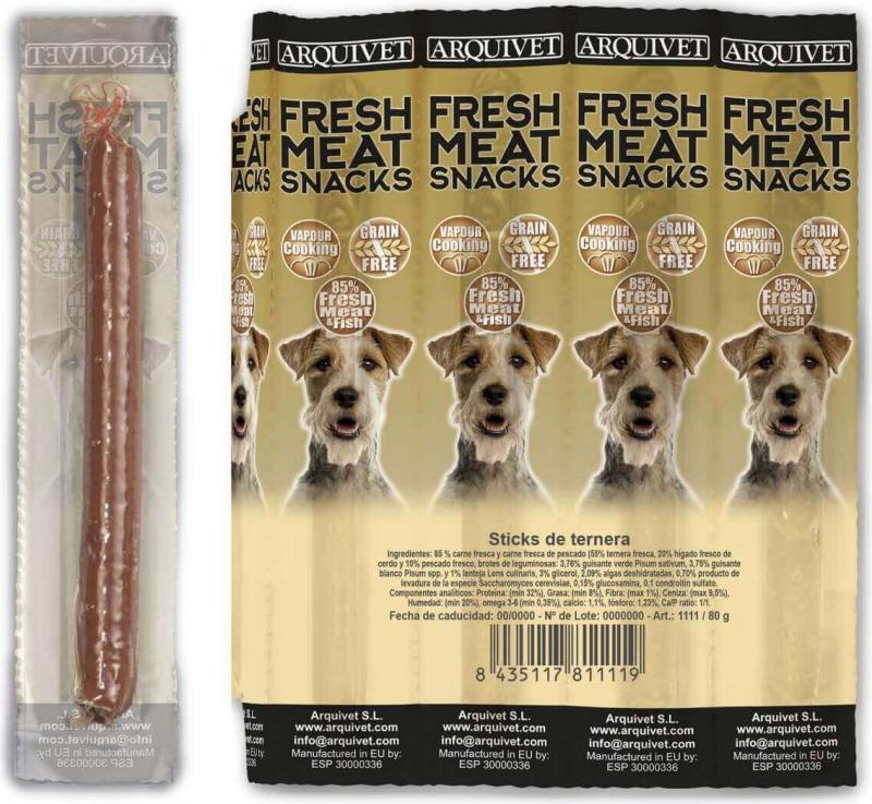Bâtonnets de boeuf pour chien Sans Céréales Fresh Meat ARQUIVET