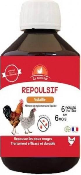 Le Fermier Antipoux pour poules et volailles Repousif 250 ml