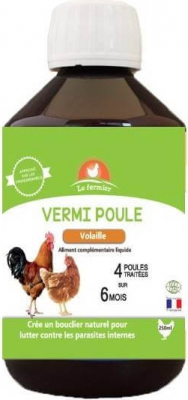LE FERMIER Vermipoule, contre les parasites internes des poules et volailles