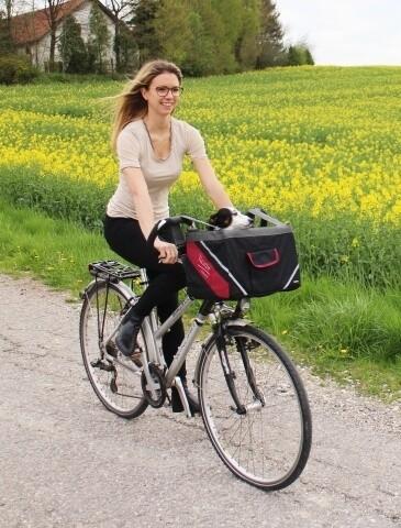 Sac à vélo Vacation, noir / rouge