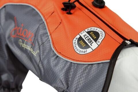 Imperméable London orange / gris pour chien