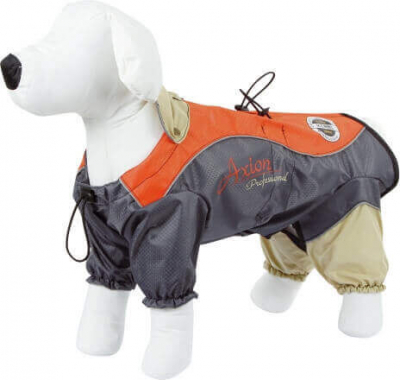 Imperméable London orange / gris pour chien