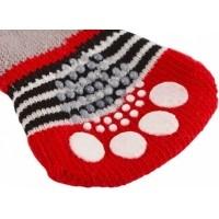 Chaussettes pour chien Bruno gris/rouge