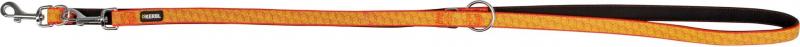 Laisse dressage réfléchissante 20 mm x 200 cm noir / orange