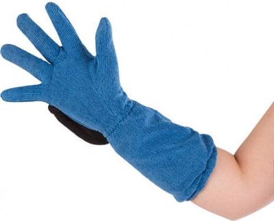 Gant de soin microfibres bleu / gris