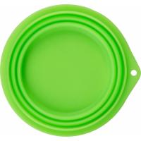 Écuelle de voyage en silicone pliable, 1000 ml, vert