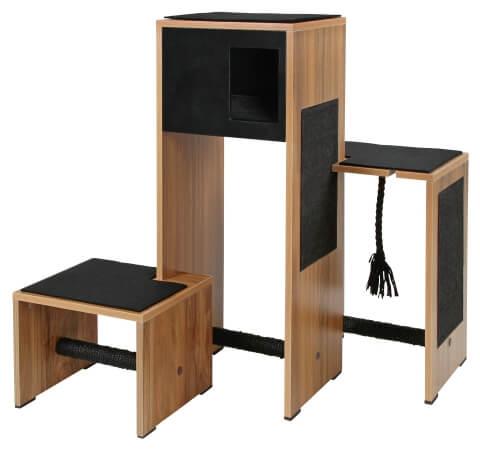 meuble arbre chat et griffoir ambiente noir 100cm. Black Bedroom Furniture Sets. Home Design Ideas