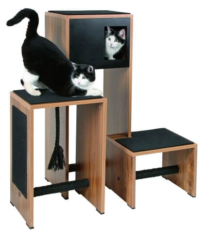 Meuble Arbre à chat et griffoir Ambiente, noir - 100cm_0