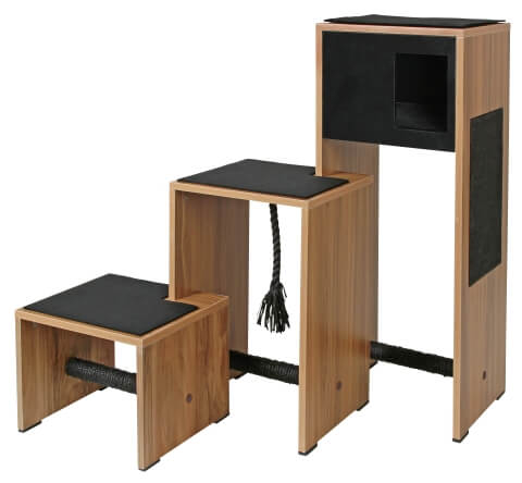 meuble arbre chat et griffoir ambiente noir 100cm arbre chat. Black Bedroom Furniture Sets. Home Design Ideas