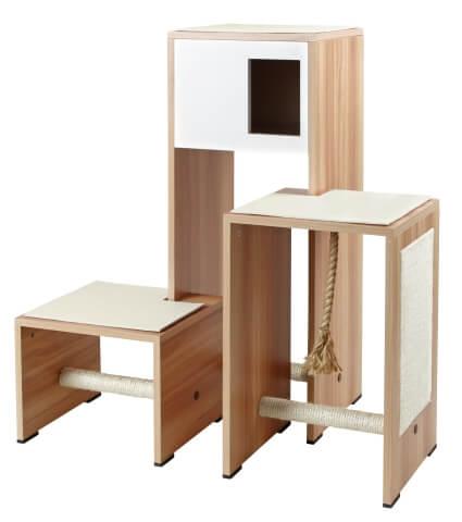 meuble griffoir ambiente blanc arbre chat. Black Bedroom Furniture Sets. Home Design Ideas