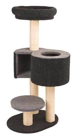 kratzbaum fridolin mit filz in grau kratzb ume. Black Bedroom Furniture Sets. Home Design Ideas