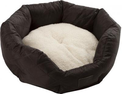 Panier douillet Charlotte, noir / blanc pour chien et chat