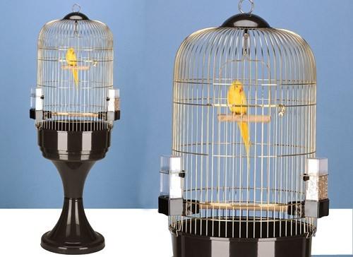 Cage pour perroquet MAX 6 Antique Brass avec support- H165cm